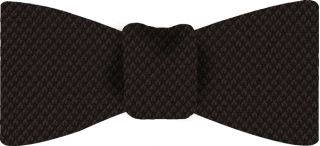 Dark Chocolate Cashmere Black Warp Bow Tie #24