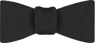 Charcoal Gray Solid Challis Wool Bow Tie #9