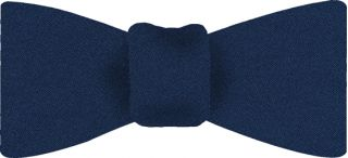 Blue Satin Silk Bow Tie #3