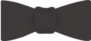 Charcoal Gray Satin Silk Bow Tie #3