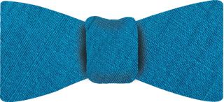 Ocean Blue Thai Rough Silk Bow Tie #5