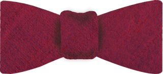 Red/Purple Thai Rough Silk Bow Tie #6