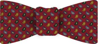 Atkinsons Printed Irish Poplin Bow Tie #5