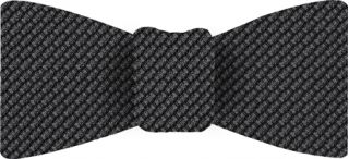 Charcoal Gray & Midnight Blue Cashmere/Silk Grenadine Grossa Silk Bow Tie #10