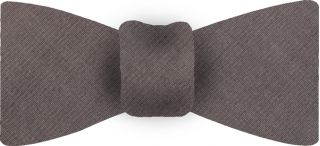 Medium Brown Shot Thai Silk Bow Tie #36