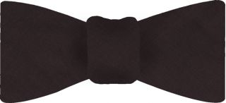 Dark Chocolate Shot Thai Silk Bow Tie #37