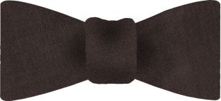Bitter Chocolate Thai Shot Silk Bow Tie #50