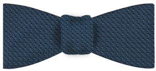 Slate Blue Grenadine Grossa Silk Bow Tie #12