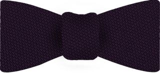 Dark Purple Piccola Grenadine Silk Bow Tie #19