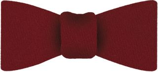Red Solid Challis Wool Bow Tie #2