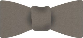 Gray With Brown Satin Silk Bow Tie #2