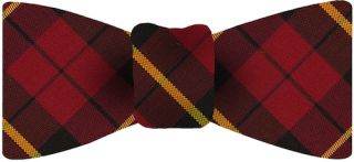 Wallace Plaid Tartan Irish Poplin Bow Tie #1