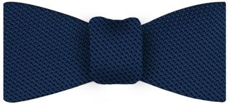 Dark Blue Grenadine Fina Silk Tie #13