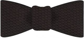 Bitter Chocolate Prometeo Grenadine Silk Bow Tie #21
