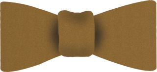 Yellow Gold Satin Silk Bow Tie #12