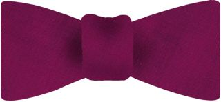 Dark Fuchsia Shot Thai Silk Bow Tie #27