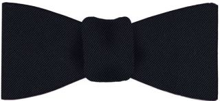 Dark Navy Blue Faille Silk Bow Tie # 5