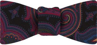 Atkinsons Printed Irish Poplin Bow Tie#4