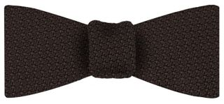 Bitter Chocolate Grenadine Grossa Silk Bow Tie #6