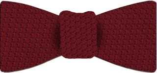 Red Prometeo Grenadine Silk Bow Tie #1