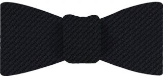 Midnight Blue Cashmere/Silk Grenadine Grossa Silk Bow Tie #2
