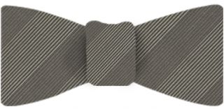 Cream & Gray Stripe Atkinsons Irish Poplin Bow Tie #ASBT-57