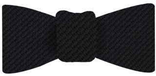 Black & Midnight Blue Cashmere/Silk Grenadine Grossa Silk Bow Tie #1