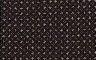 Sky Blue & Off-White on Chocolate Macclesfield Print Pattern Silk Tie #MCT-500