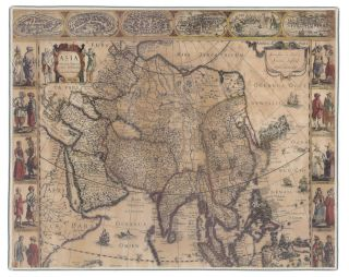 1632 Asia Map Pocket Rectangle #5