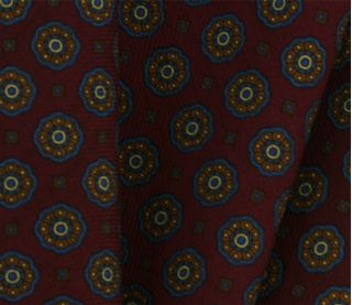 Macclesfield Patterned Wool Challis Pocket Square #5