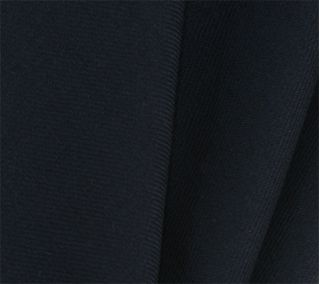 Midnight Blue Solid Challis Wool Pocket Square # 4