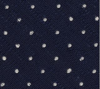 White on Dark Navy Blue Shantung Pin Dot Silk Bow Tie #SHPDBT-1