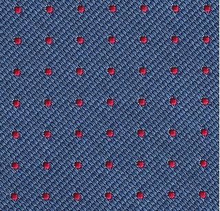 Red on Sky Blue Mogador Pin Dot Tie #MGPDT-3
