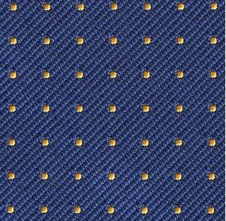 Yellow Gold on Navy Blue Mogador Pin Dot Tie #MGPDT-6