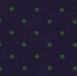 Forest Green  on Dark Purple Macclesfield Print Silk Tie #MCDT-7