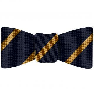 Yellow Gold on Navy Mogador Striped Bow Tie #MGSBT-2