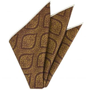 Traditional Thai Print Silk Pocket Square #2