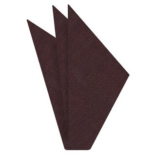 Dark Chocolate (Chocolate & Midnight Blue) Linen Pocket Square #6
