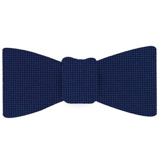 Royal Blue Diamond Weave Silk Tie #5