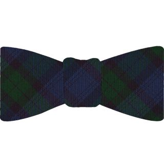 The Black Watch Tartan Silk Bow Tie #TABT-14  Blue, Black & Bottle Green