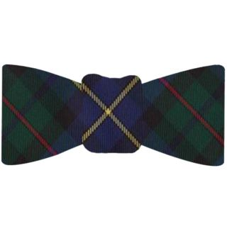 Forest Green, Navy Blue, Red , Black & Yellow Tartan Silk Bow Tie #TABT-17