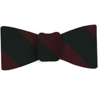 Sherwood Foresters Silk Bow Tie #RGBT-56  Burgundy & Forest Green