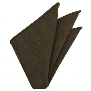 Dark Chocolate Doi Tao Thai Cotton Pocket Square #THCP-6