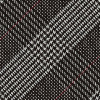 Black & White Large Prince Of Wales Silk Tie #15