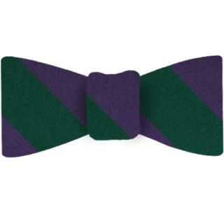 The Highland Brigade Stripe Silk Bow Tie #34
