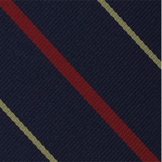 1st Glouchestershire Stripe Silk Pocket Square #RGP-19