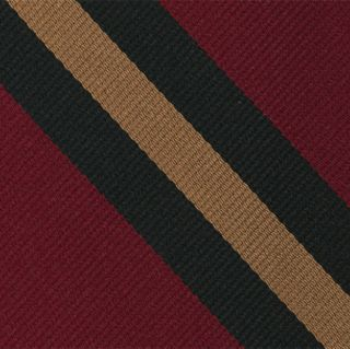 Wiltshire Regiment Stripe Silk Pocket Square #RGP-45