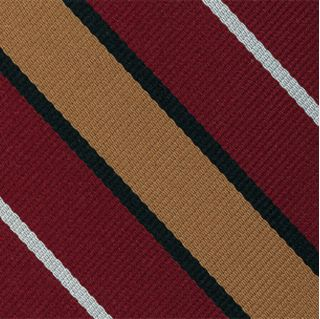 Suffolk Stripe Silk Pocket Square #RGP-8