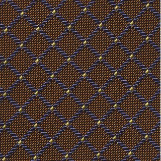 Light Blue, Navy Blue, Golden Brown, Black & Light Yellow Pattern Silk Tie #EPT-23