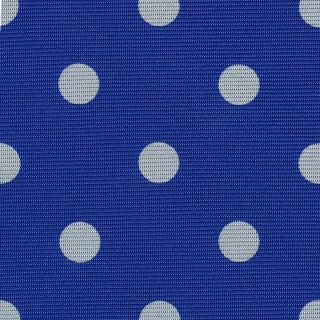 White on Royal Blue Macclesfield Print Silk Tie #MCDT-25